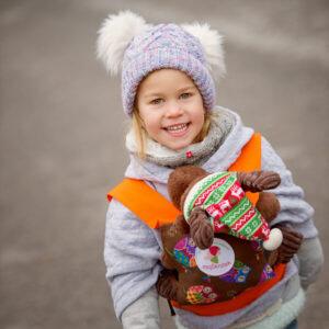 mojŠkratek nahrbtnik za otroške igrače - Sovice