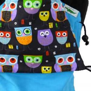 Strukturirana Nosilka BUZZIDIL – Turquois Funky Owls (velikost baby 0-18m)