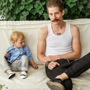 Liliputi usnjeni copatki – Moustache
