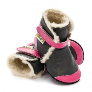 Liliputi usnjeni škorenjčki - Eskimo Black