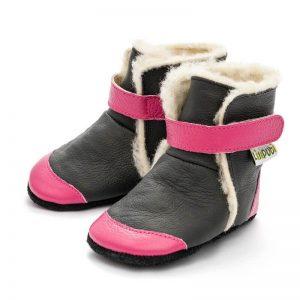 Liliputi usnjeni škorenjčki – Eskimo Black