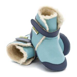 Liliputi usnjeni škorenjčki - Eskimo Blue