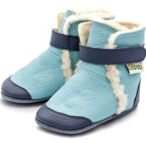 Liliputi usnjeni škorenjčki – Eskimo Blue
