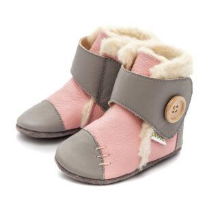 Liliputi usnjeni škorenjčki – Snowflake Pink