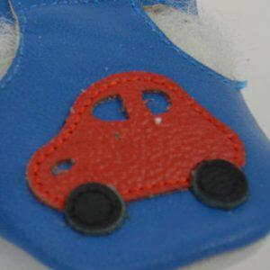 Usnjeni copatki MiniFootprints – Avto (primerni tudi za visok nart)