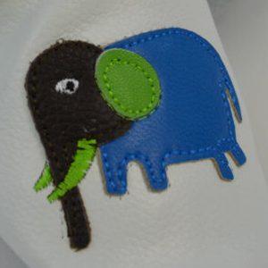 Usnjeni copatki MiniFootprints – Slonček (primerni tudi za visok nart)