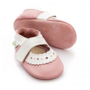 Usnjeni sandalčki Liliputi - Sahara Pink
