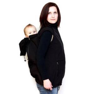 Ženska softshell jakna s snemljivimi rokavi 4v1 – Črna