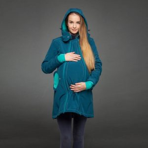 Liliputi plašček 4v1 za nosečnost in nošenje otrok – Azure Turquoise
