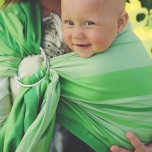 Little Frog sling z obroči – Tsavorite